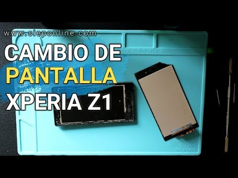 Sony Xperia Z1 C6903 Glass Cover & LCD Screen Replacement |SIEPONLINE|
