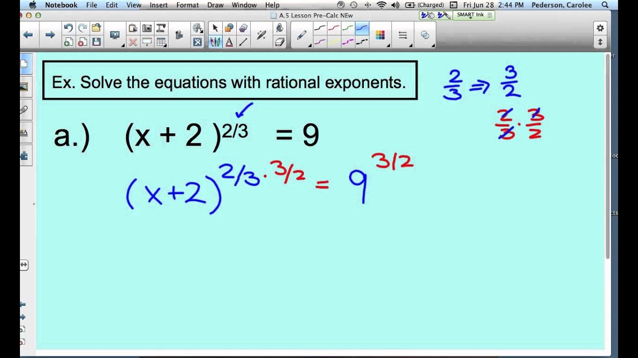 Rational Exponents Equations Worksheet Answers