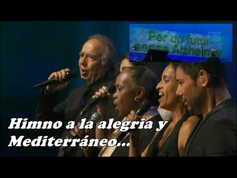Himno de la alegría y Mediterráneo - Serrat, Silvia, Noa, Poveda y Hendricks   HD