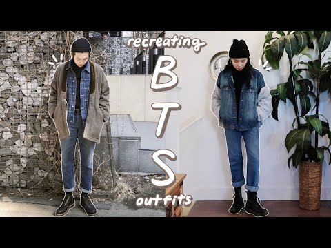 BTS Inspired Outfits (winter) | Recreating Kpop Idol Outfits With The Clothes I Have