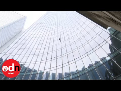French Spiderman Alain Robert Arrested for Scaling Frankfurt Skyscraper