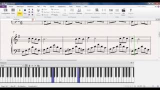 Синяя вечность - Муслим Магомаев (ноты для пианино)