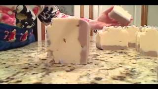 Winter Lavender Cp Soap Cutting :o)
