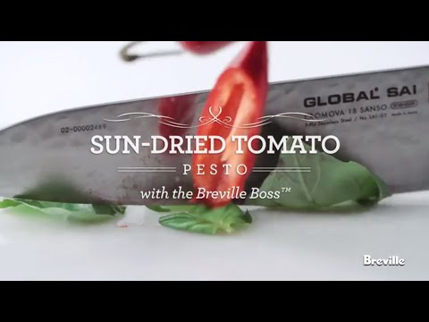 Sun Dried Tomato Pesto Recipe powered by the best Breville Boss Blender