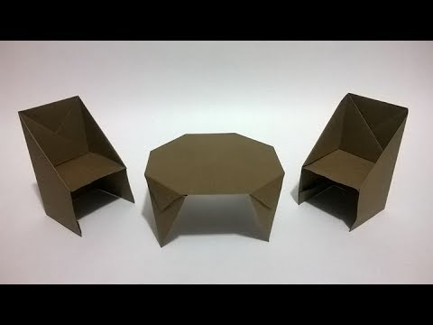 C mo hacer sillas de papel how to make an origami chair for Sillas para maqueta