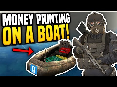 MONEY PRINTING ON A BOAT - Gmod DarkRP | Best Place For Printers?!