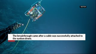 Seychelles mission recovers underwater drone