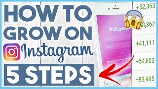 😀 HOW TO GROW FOLLOWERS ON INSTAGRAM IN 2018 - 5 STEP FORMULA (you'll regret not watching this) 😀
