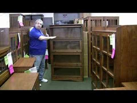 mission oak barrister bookcase youtube - Barrister Bookshelves