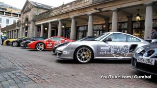 The start grid of the Gumball 3000 Part 2 - Covent Garden, London - 1080p HD