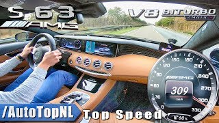 MERCEDES S63 AMG Coupe 5.5 V8 BiTurbo 309km/h AUTOBAHN TOP SPEED by AutoTopNL