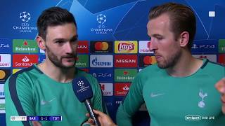 """I knew we were through when I heard the fans"" Harry Kane and Hugo Lloris react to Barca v Spurs"