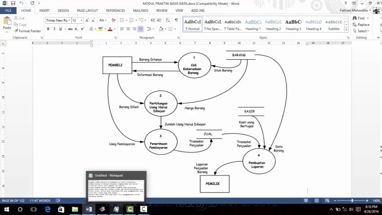 Tutorial Pembuatan Diagram Konteks dan DFD Sistem