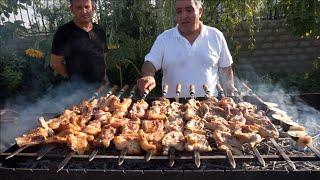 Встреча с друзьями в Арарат в ресторане «Ралина» и приготовление вкусного шашлыка.