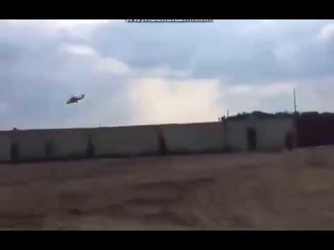 Над Луганском пролетел вертолет с ракетами!!!
