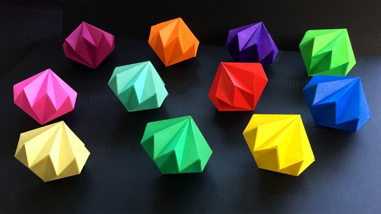 diamant basteln mit papier diy geschenke selber machen. Black Bedroom Furniture Sets. Home Design Ideas