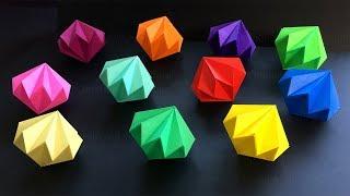 Diamant Basteln mit Papier - DIY Geschenke selber machen - Weihnachtsdeko basteln mit Origami Papier