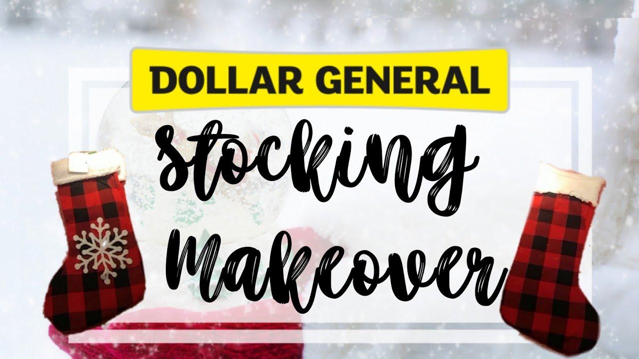 Dollar General Christmas Stocking Makeover - YouTube
