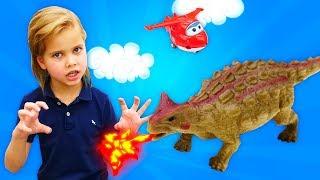 Динозавры Коллекта (Collecta)— Большая распаковка игрушек— Как оживить динозавров? Легко!