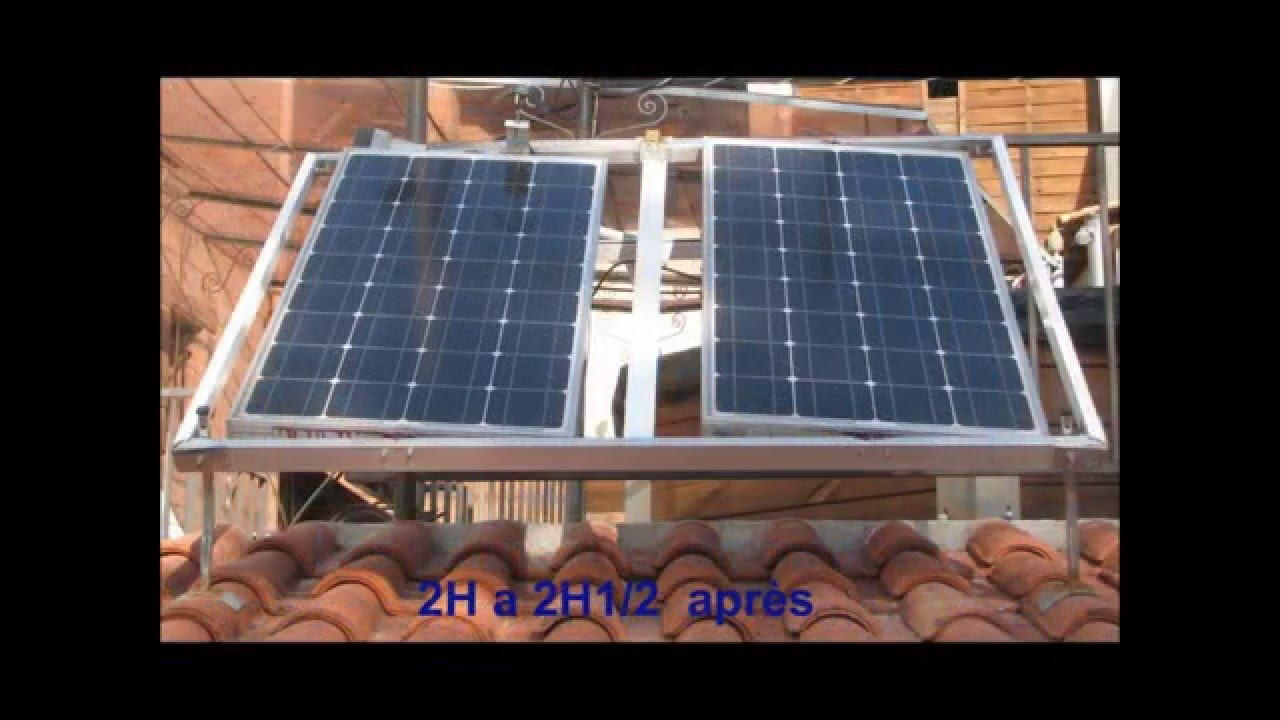 chassis pour panneaux solaires suiveur soleil solar tracker youtube. Black Bedroom Furniture Sets. Home Design Ideas