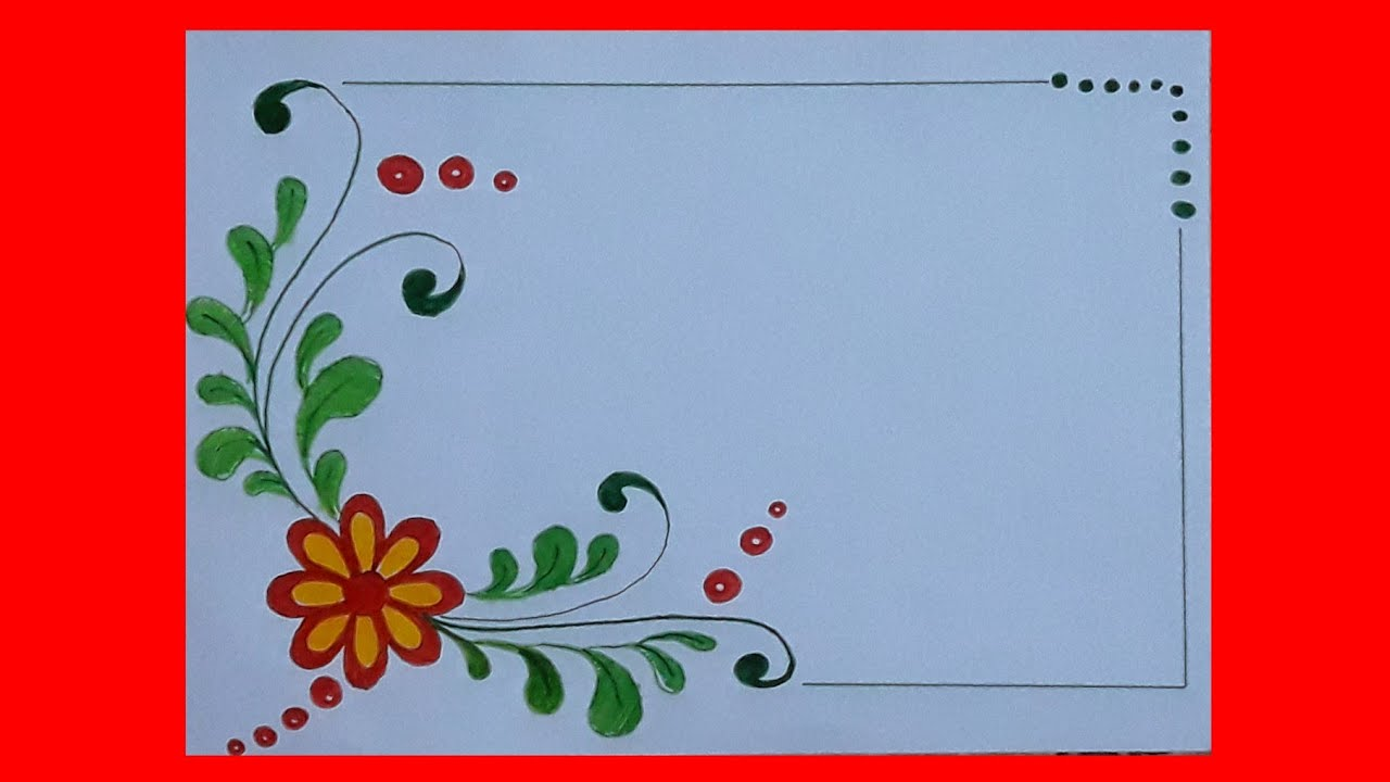 Flower Border Design For Projects On Paper A4 Front Page Design For School Project Handmade Border