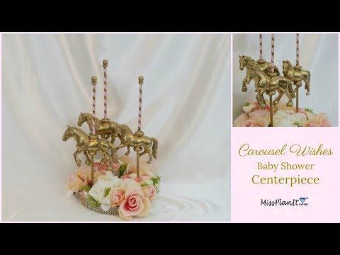 Miniature Carousel Horse Cake Decorations