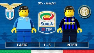Lazio Inter 1-3 • Serie A 2017 (21/05/2017) Goals Highlights Lego Calcio • Sintesi