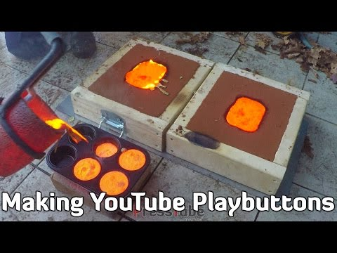 Making Gold YouTube Playbutton