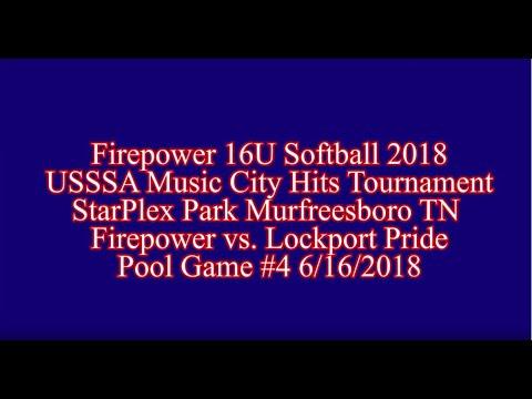 USSSA Music City Hits Firepower vs.  Lockport Pride Pool Game #4