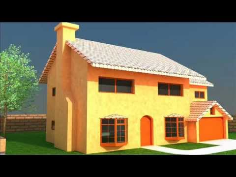 Rendering 3d con cinema 4d architecture casa simpson e for Cinema 4d architecture