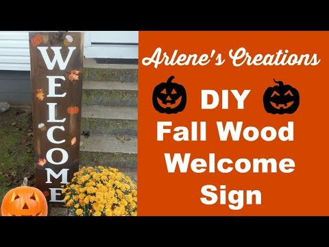 DIY FALL WOOD WELCOME SIGN