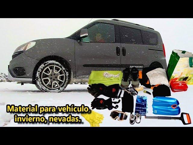 Material vehículo para poner cadenas en nevadas e invierno