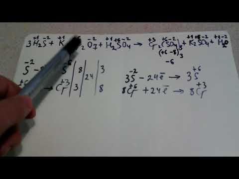 как расставить коэффициенты реакции методом электронного баланса (закрепление)
