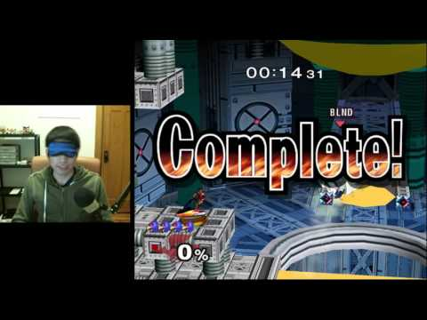 Super Smash Bros. Melee - Blindfolded Adventure Mode (Very Easy)