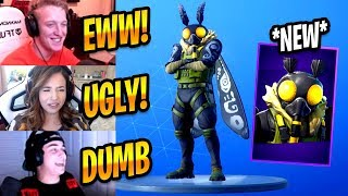 STREAMERS REACT TO NEW MOTHMANDO MOTH MEME SKIN - Fortnite Best & Funny Moments #241