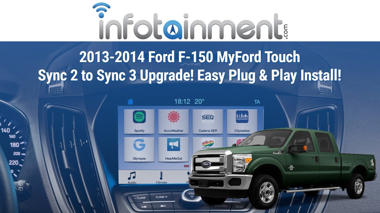 2013-2014 Ford F-150 MyFord Touch Sync 2 to Sync 3 Upgrade! Easy Plug &  Play Install!