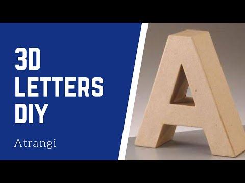 3D Letters DIY