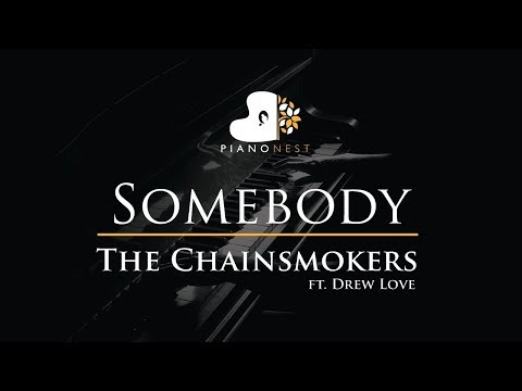 The Chainsmokers - Somebody ft. Drew Love - Piano Karaoke / Sing Along / Cover with Lyrics