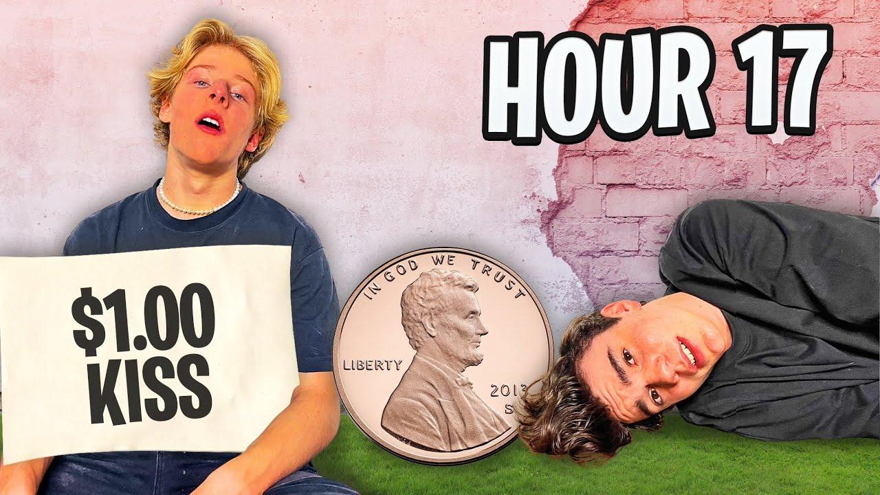 I Survived On $0.01 For 24 Hours 💰  Lev Cameron