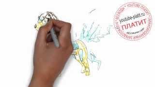 Как поэтапно карандашом нарисовать электро собаку за 36 секунд
