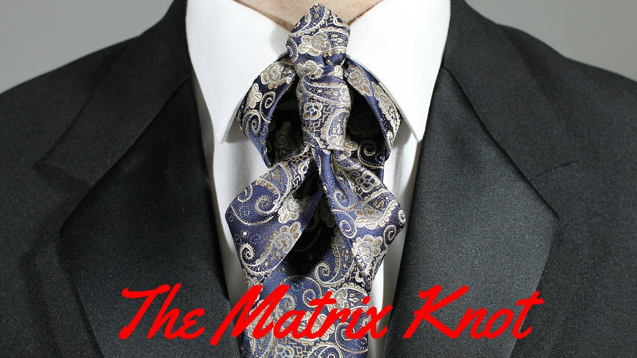 How to tie a tie the matrix knot youtube ccuart Image collections