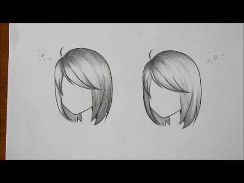 How to draw manga how to shade hair in different lighting request youtube