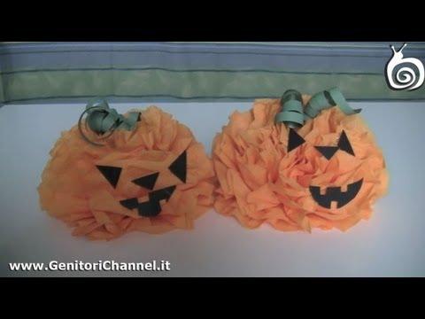 Tutorial Halloween - zucca con tovaglioli di carta - YouTube d943ebbdcb6e