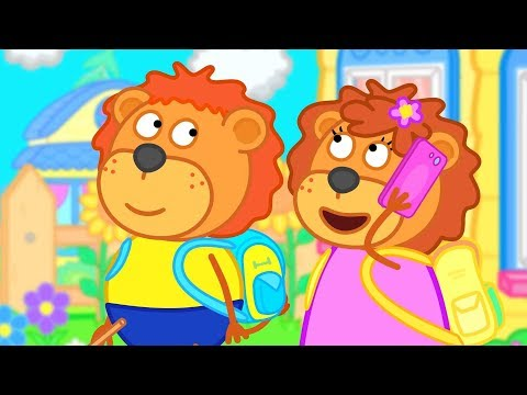 Lion Family Who will help the Cat Cartoon for Kids