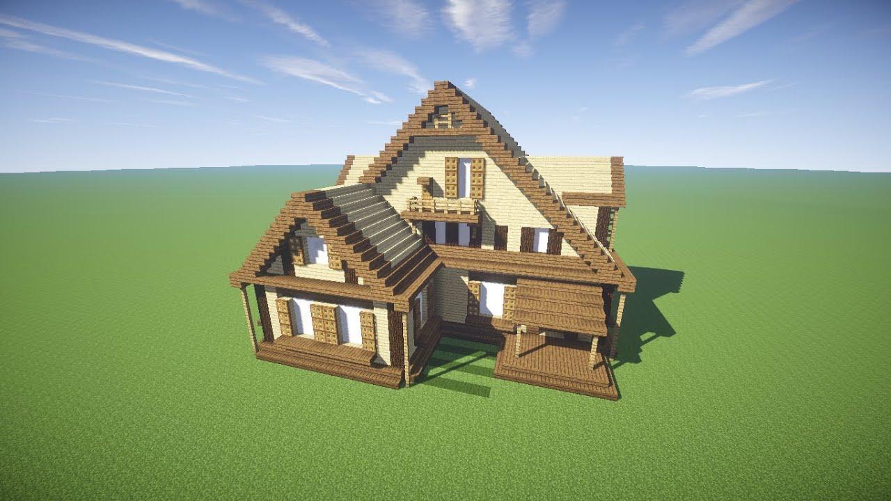 Minecraft como fazer uma casa de madeira youtube for Minecraft videos casas