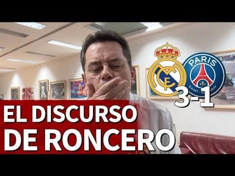 Real Madrid 3-1 PSG | Declaración de amor eterno de Roncero tras ganar al PSG | Diario AS