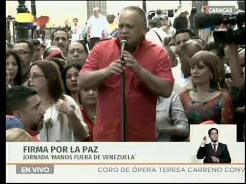 Discurso de Diosdado Cabello en la Plaza Bolívar de Caracas, 19 febrero 2019