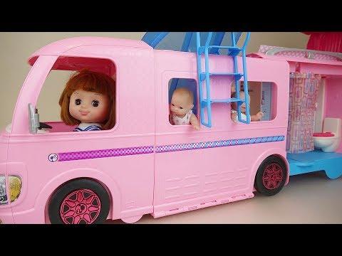 Ba Doll camping bus pool car toys ba Doli play