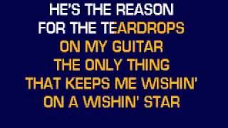 Taylor Swift   Teardrops in my guitar KARAOKE