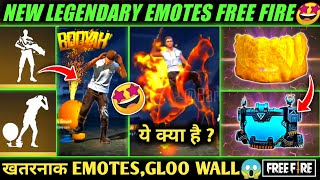 NEW LEGENDARY EMOTES IN FREE FIRE | NEW EVENT | UPCOMING GLOO WALL SKINS, OB 27 UPDATE | HORSE EMOTE